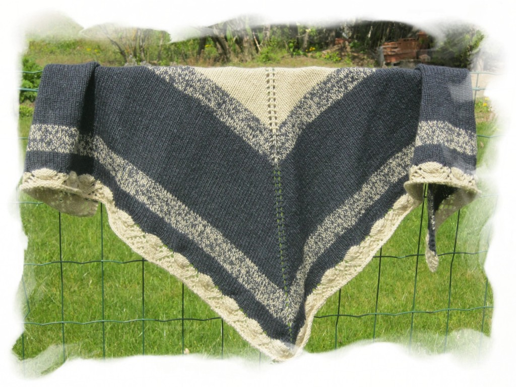 modele grand chale tricot