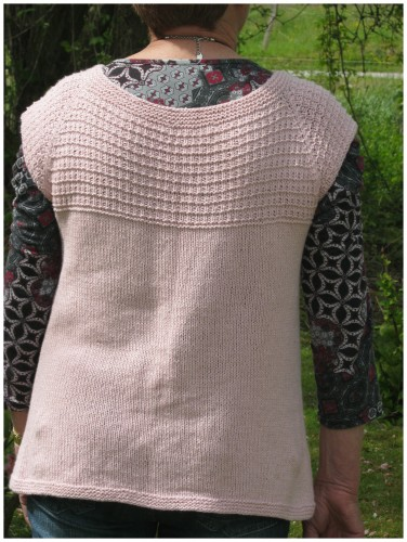 Gilet, rose, tricot